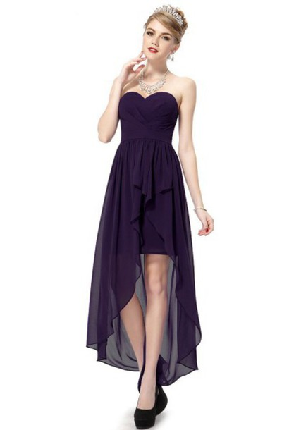 Dress: prom dress, evening dress, purple prom dresses, cheap ...