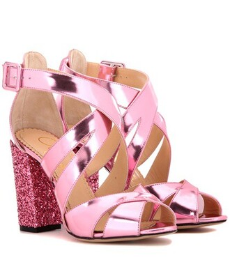 embellished 100 sandals leather sandals leather pink shoes