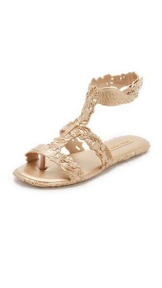 sandals gold shoes