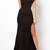 Sheer Lace Maxi Dress - Black