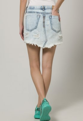 One Teaspoon JUNKYARD - Denim skirt - blue - Zalando.co.uk