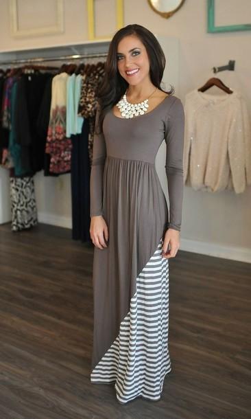 dress long stripes maxi dress