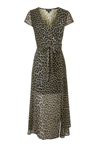 dress maxi dress maxi print brown leopard print