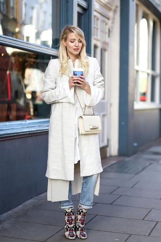 ohh couture blogger shoes blouse coat bag