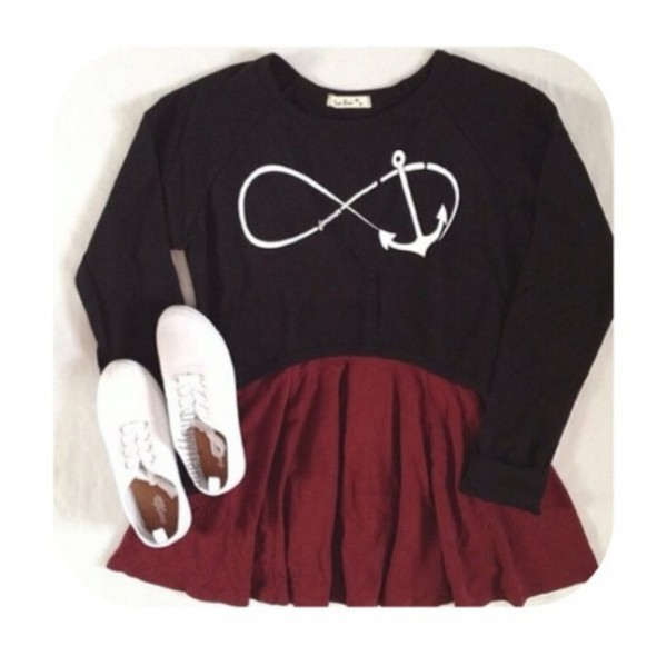 shoes white skirt sweater