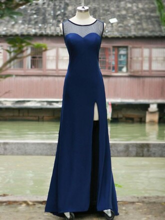prom prom dress blue blue dress navy navy dress sweetheart dress amazing vogue fashionista mermaid prom dress cool sexy sexy dress dressofgirl sparkle special occasion dress bridesmaid floor length dress