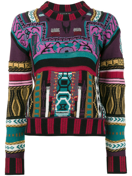 ETRO sweater women print silk wool