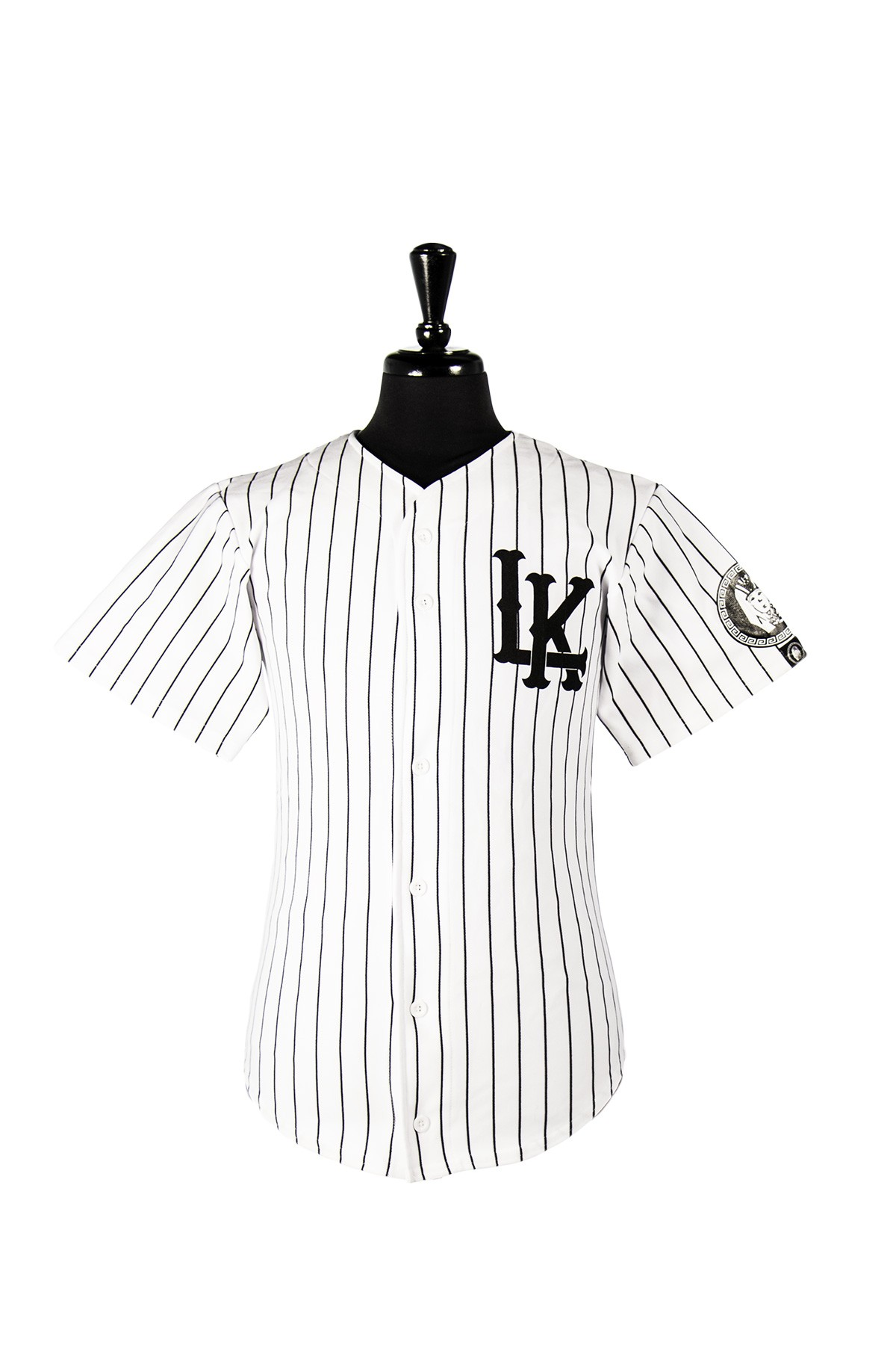 4e70d488ec74 Champion Braided Pinstripe White & Blue Baseball Jersey