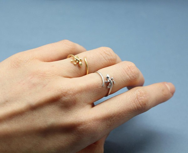 jewels ring lizard cute style