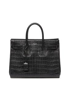 Print small carryall bag, black