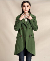 trench coat for women,trench coat,forest green