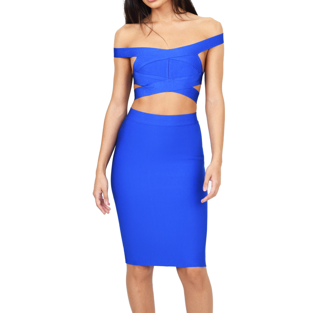 The vanity two piece bandage dress