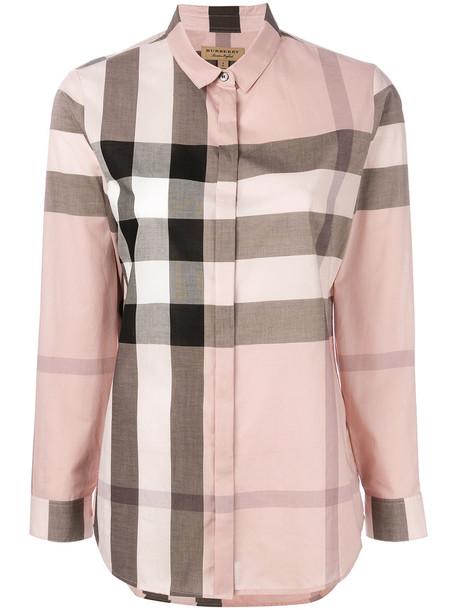Burberry shirt women cotton purple pink top