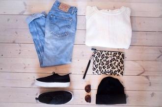 jeans levi's vintage bag shoes tennis sweater