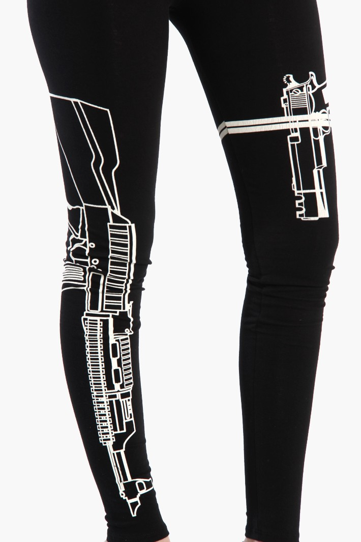 Machine Gun Graphic Machine Gun Leggings