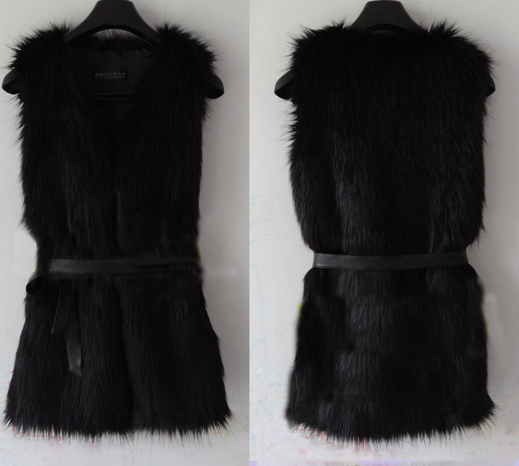 Wholesale New Hot Womans Lady Women Winter Fashion  Black Warm Faux Fur Long Vest Jacket Coat Waistcoat Fur Vest  Fur vests-in Vests & Waistcoats from Apparel & Accessories on Aliexpress.com