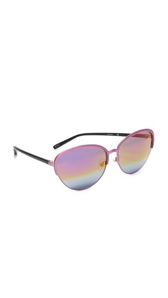 rainbow sunglasses mirrored sunglasses pink