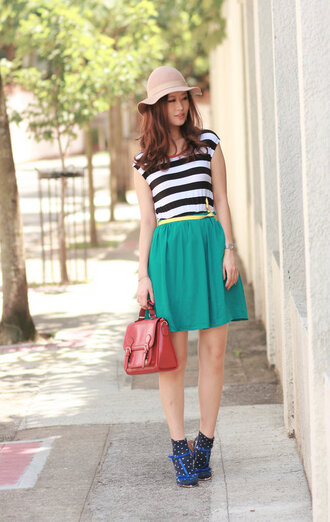 mellow mayoness stripes skirt