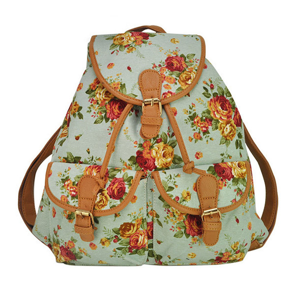 bag backpack banggood flowers canvas schoolbags bookbags