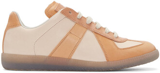 tan sneakers shoes