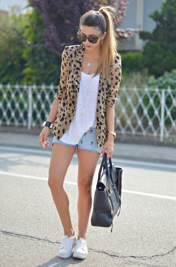 bag jacket coat cardigan leopard print