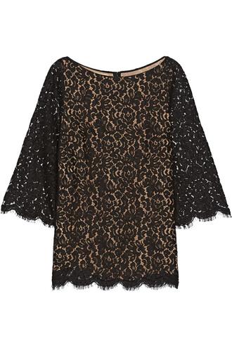 top lace top lace cotton black