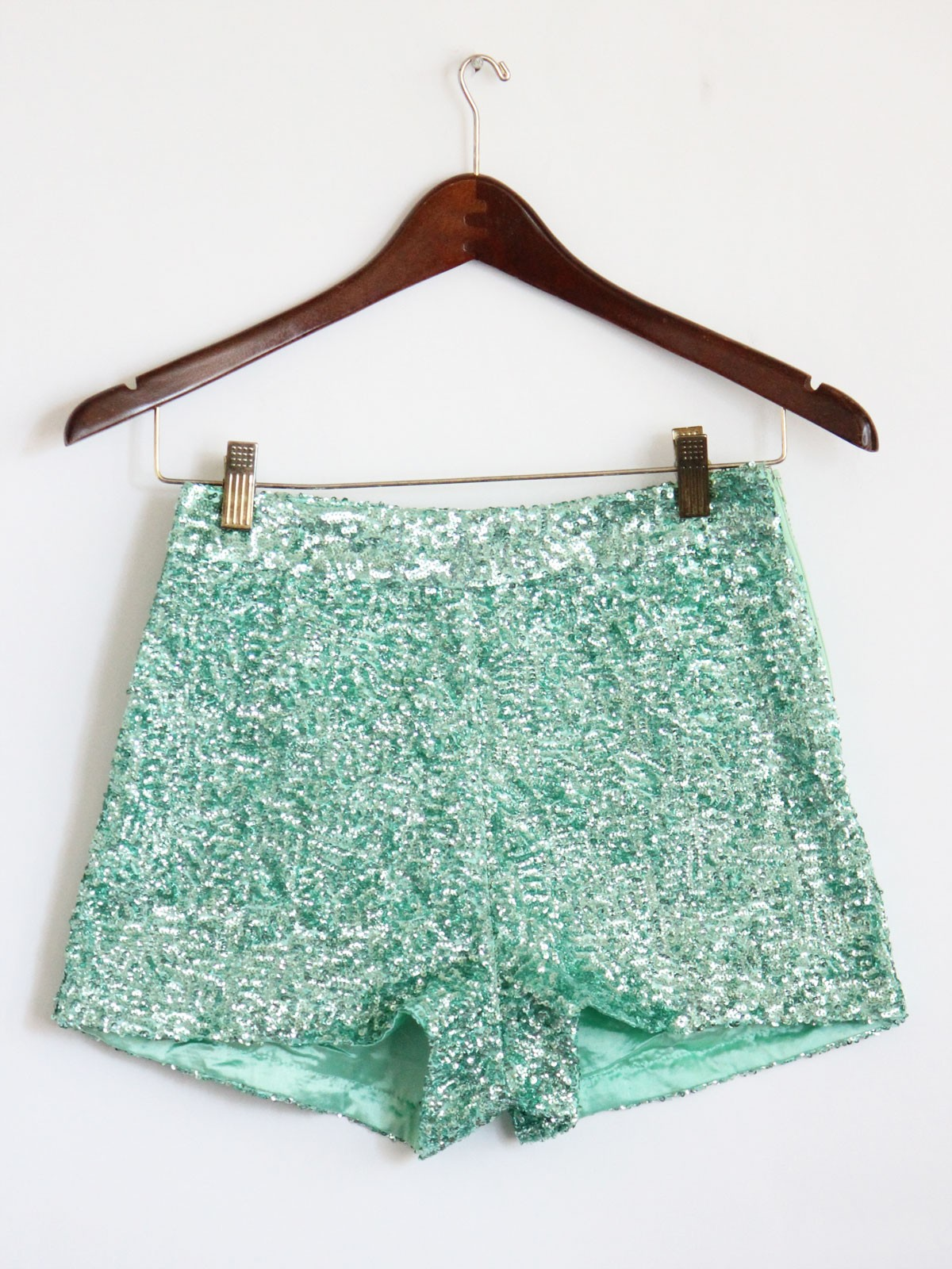 Sparkly Green Shorts June 2017