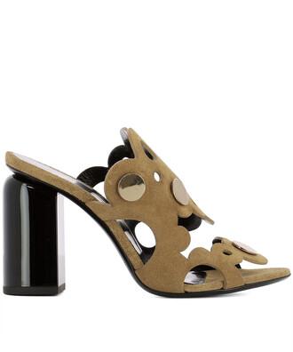 sandals suede brown beige shoes