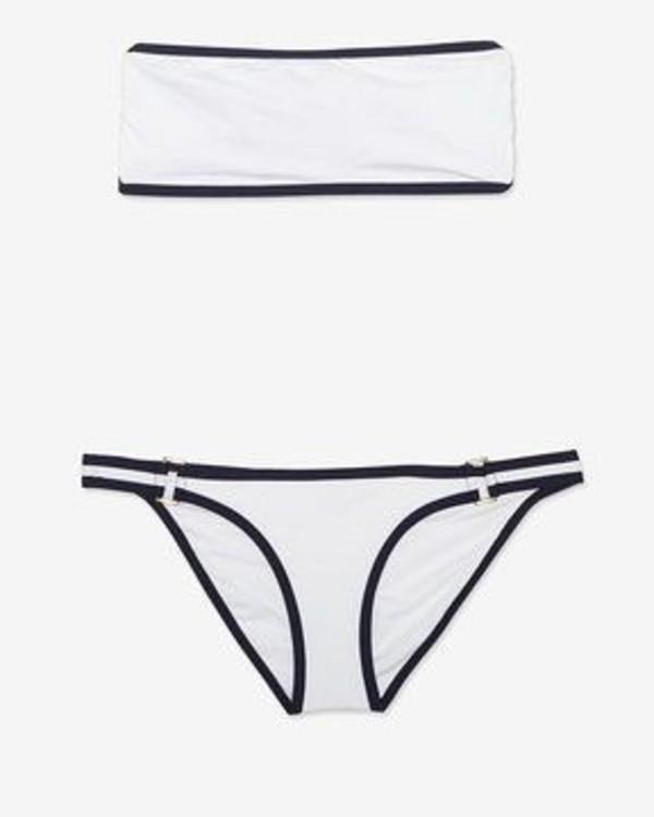 swimwear white bandeau top