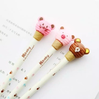 home accessory stationary kawaii cute pink pencils