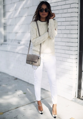 sincerely jules blogger sweater jeans bag shoes