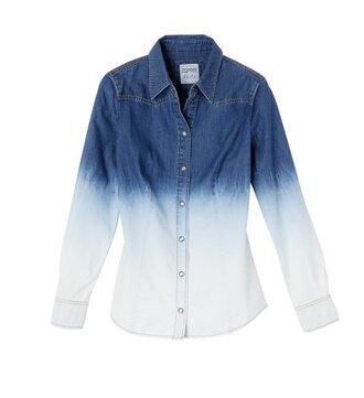 blouse shirt tie dye blue t-shirt jeans
