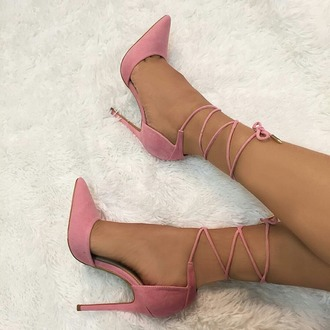 shoes high heels pink straps heels with straps smooth