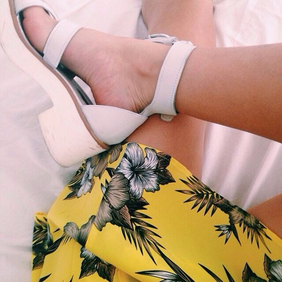 white cream shoes tumblr hipster sandals strap hip indy trendy tumblr girl cream high heels