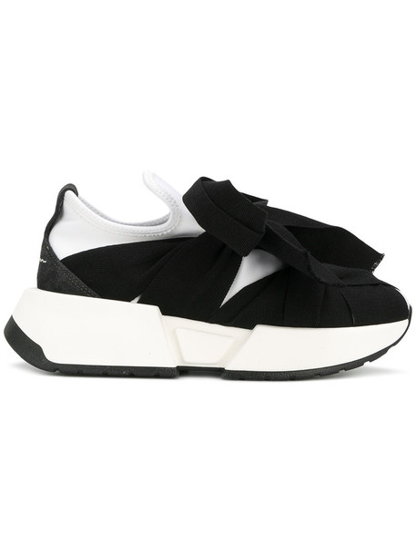 Mm6 Maison Margiela sneakers. bow women sneakers leather black shoes