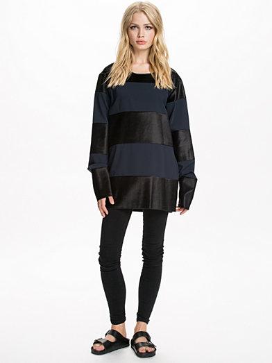 Fluid Polyester Combo Sweater, MM6 Maison Martin Margiela