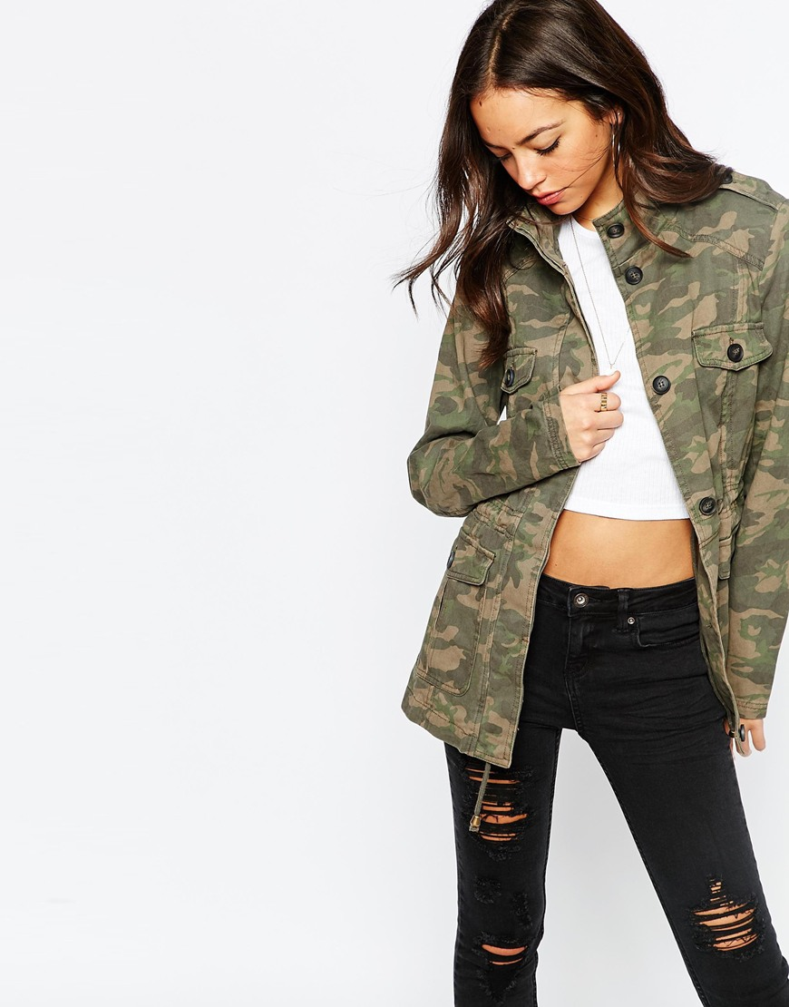 New Look Camo Utility Jacket at