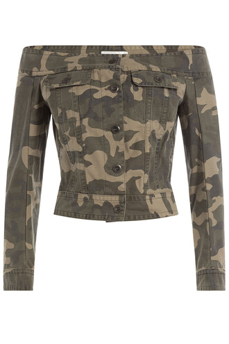 jacket sailor cotton print green