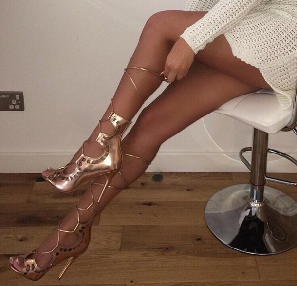 80307d0c190 shoes gold gold sandals gold stilettos gold strappy heels gold shoes knee  high gladiator sandals gold