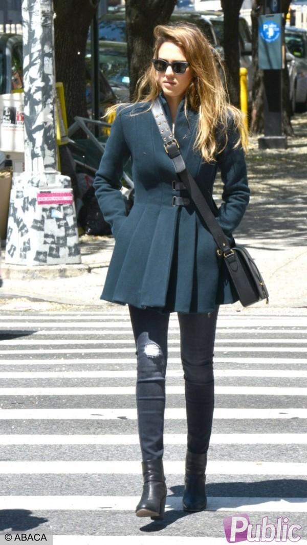Coat: Clothes, Jessica Alba
