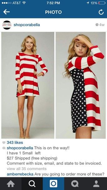 dress american flag tunic dress