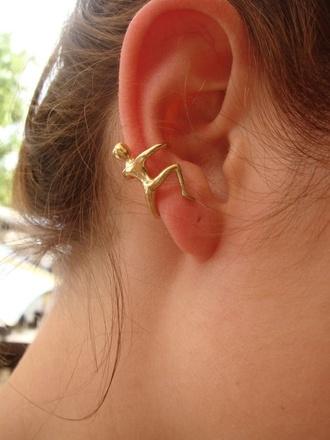 earing jewels gold ear cuff small