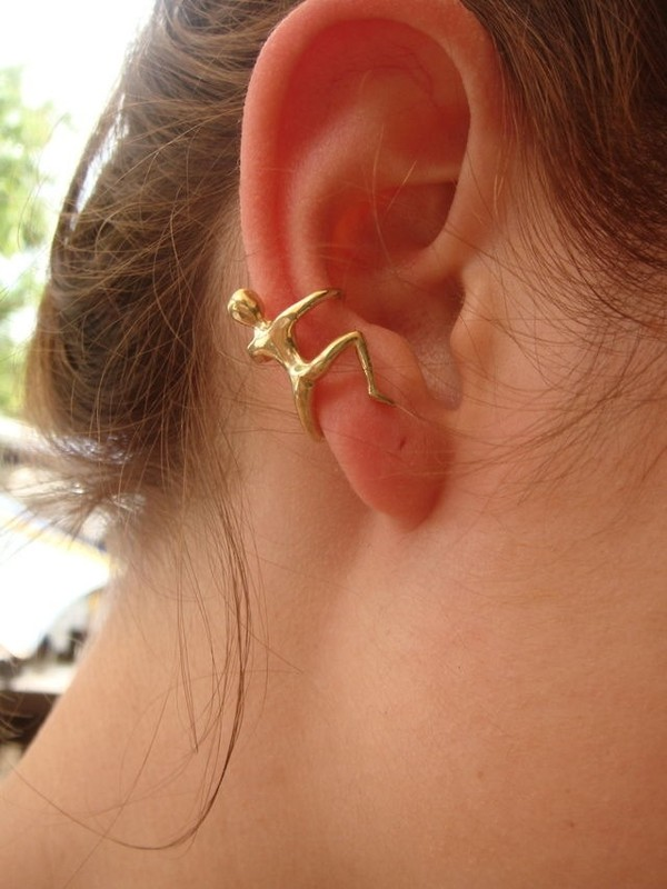 jewels ear cuff earrings gold small wheretoget. Black Bedroom Furniture Sets. Home Design Ideas