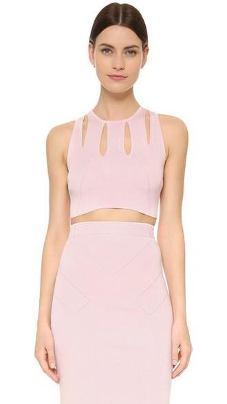 top sleeveless top sleeveless cropped light pink light pink