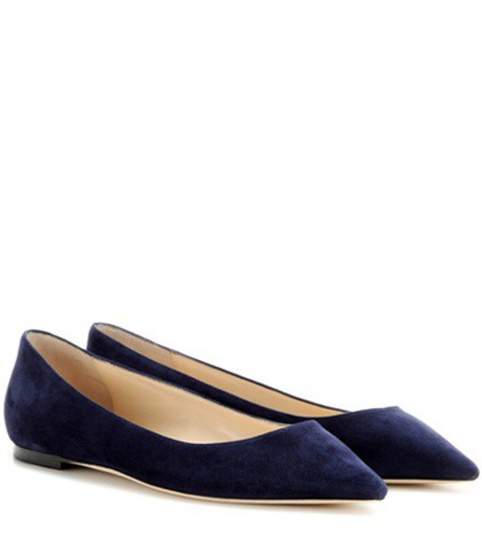 Jimmy Choo suede blue shoes