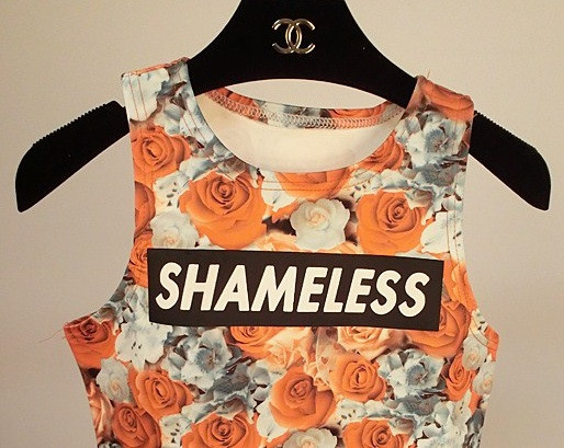 Shameless Cropped Top Shirt (3 colors available) – Glamzelle