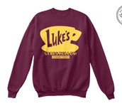 sweater,gilmore girls shirt,gilmore girls sweater,lukes diner,lukes diner shirt,lukes diner sweater,lukes diner hoodie,gilmore girls merchandise,gilmore girls merch,sweatshirt,t-shirt,shirt,stars hollow,connecticut,tumblr fashion,gilmore girls,tumblr,netflix,gilmore girls mug,gilmore girls gifts