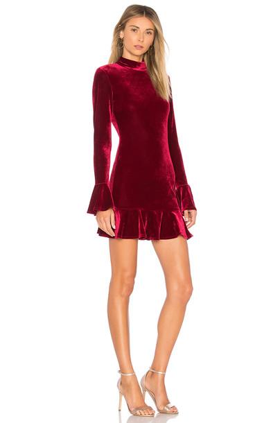 Lovers + Friends dress burgundy