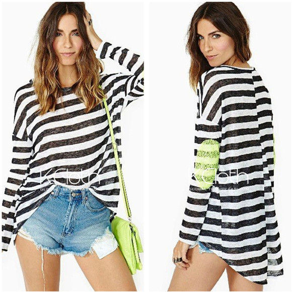 striped shirt t-shirt stripes tee black striped tee kcloth striped tee