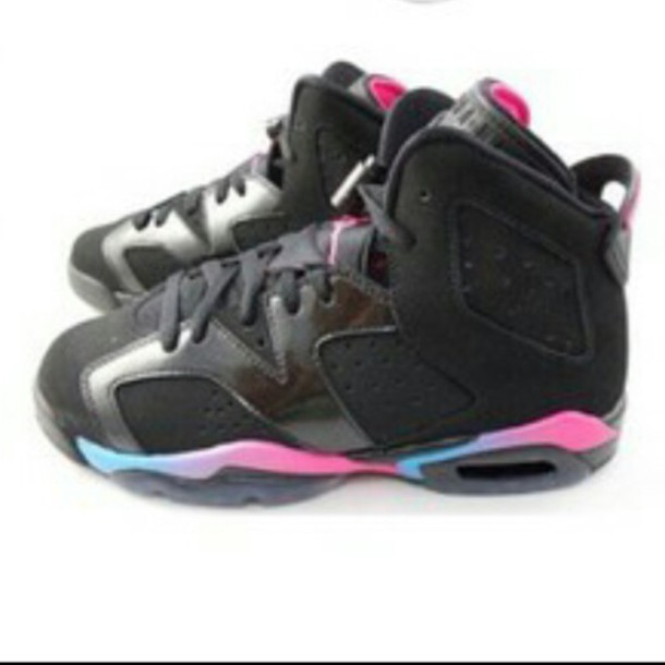 shoes jordans blue and pink shoes